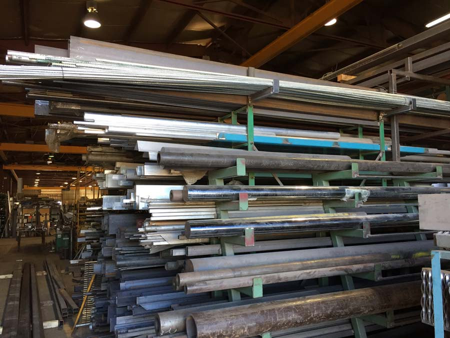 Various steel and aluminum tubes