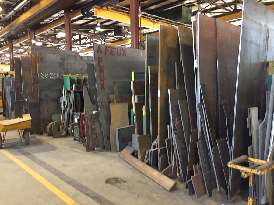 Large steel sheet of different thicknesses