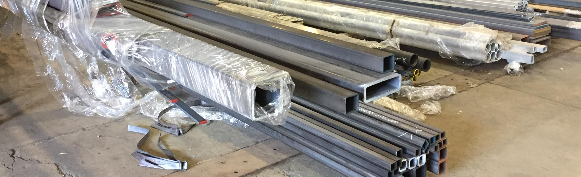 Metal tubes prepared for delivery